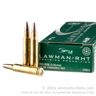 20 Rounds of 55gr Frangible .223 Rem Ammo by Speer