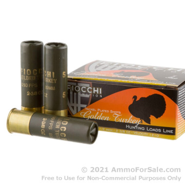 10 Rounds of 2 3/8 ounce #5 shot 12ga Ammo by Fiocchi