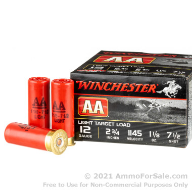 25 Rounds of  #7 1/2 shot 12ga Ammo by Winchester