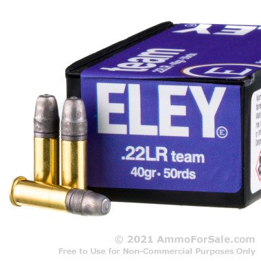 50 Rounds of 40gr LFN .22 LR Ammo by Eley