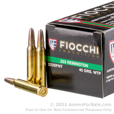 50 Rounds of 45gr Frangible .223 Ammo by Fiocchi
