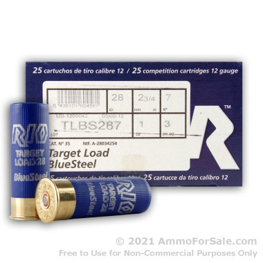 250 Rounds of 1 ounce #7 Shot (Steel) 12ga Ammo by Rio Ammunition