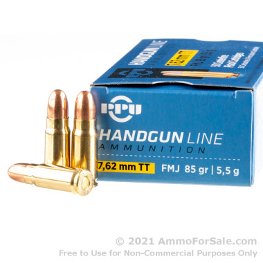 500  Rounds of 85gr FMJ 7.62 Tokarev Ammo by Prvi Partizan