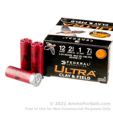 250 Rounds of 1 ounce #7 1/2 shot 12ga Ammo by Federal