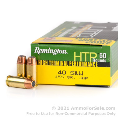50 Rounds of 155gr JHP .40 S&W Ammo by Remington
