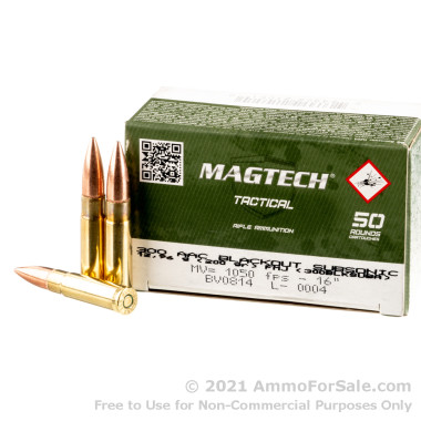 500 Rounds of 200gr FMJ .300 AAC Blackout Ammo by Magtech