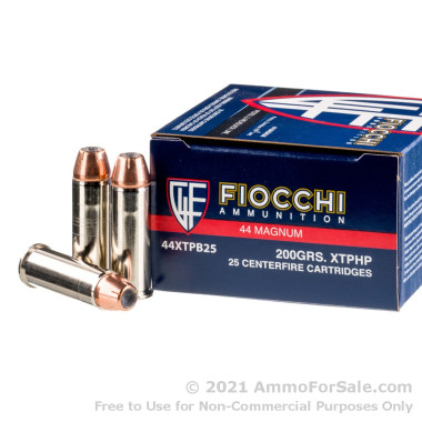 25 Rounds of 200gr XTP JHP .44 Mag Ammo by Fiocchi
