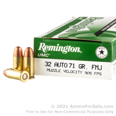 500  Rounds of 71gr FMJ .32 ACP Ammo by Remington