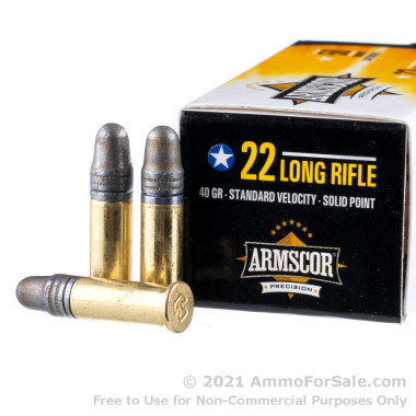 50 Rounds of 40gr LS .22 LR Ammo by Armscor
