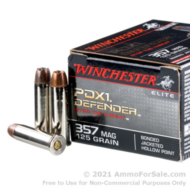 20 Rounds of 125gr JHP .357 Mag Ammo by Winchester