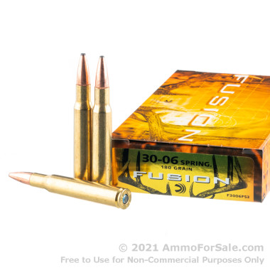 200 Rounds of 180  Grain Fusion 30-06 Springfield Ammo by Federal