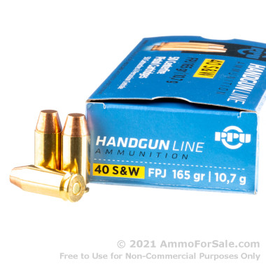50 Rounds of 165gr FMJ .40 S&W Ammo by Prvi Partizan