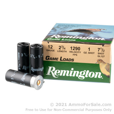 250 Rounds of 1 ounce #7 1/2 shot 12ga Ammo by Remington