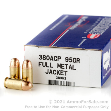 50 Rounds of 95gr FMJ .380 ACP Ammo by Ultramax