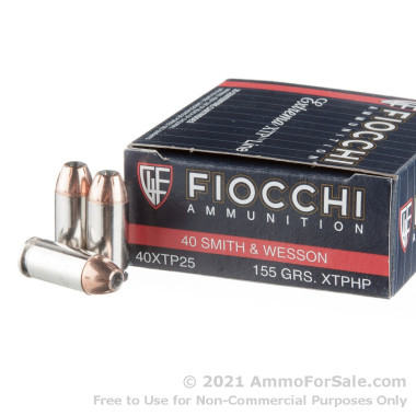 500  Rounds of 155gr XTP JHP .40 S&W Ammo by Fiocchi