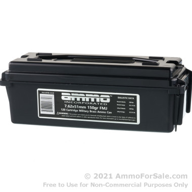 120 Rounds of 150gr FMJ 7.62x51 Ammo by Ammo Inc.