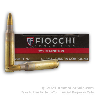 20 Rounds of 50gr FMJ .223 Ammo by Fiocchi