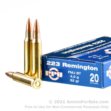 200 Rounds of 62gr FMJBT .223 Ammo by Prvi Partizan