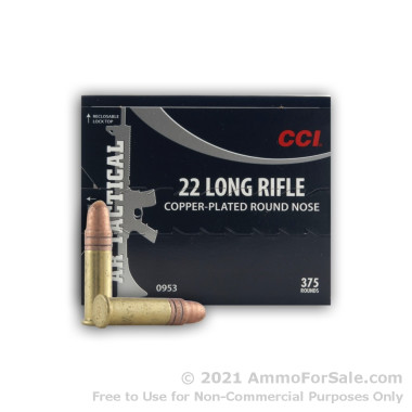 375 Rounds of 40gr CPRN .22 LR AR-Tactical Ammo by CCI