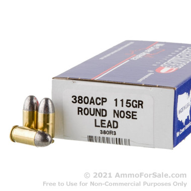 50 Rounds of 115gr LRN .380 ACP Ammo by Ultramax Remanufactured