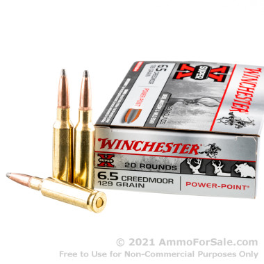 200 Rounds of 129gr Power Point 6.5 Creedmoor Ammo by Winchester