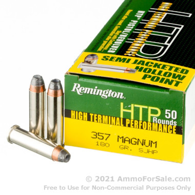 50 Rounds of 180gr JHP .357 Mag Ammo by Remington