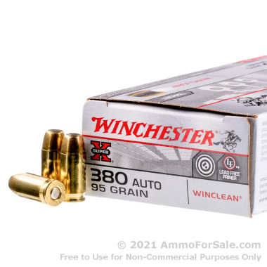 50 Rounds of 95gr BEB .380 ACP Ammo by Winchester