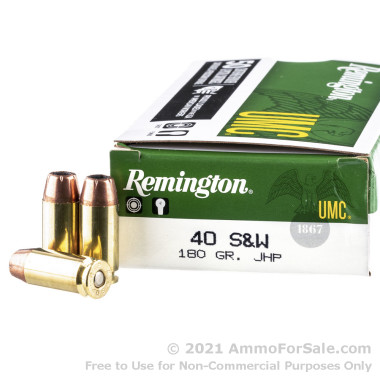 500  Rounds of 180gr JHP .40 S&W Ammo by Remington