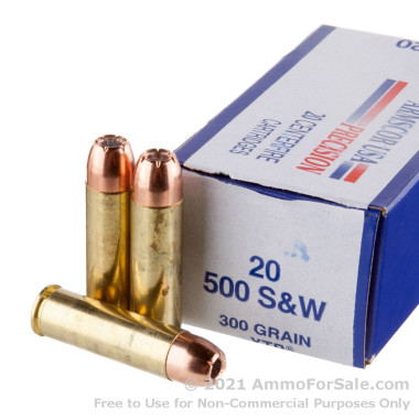 20 Rounds of 300 gr XTP .500 S&W Mag Ammo by Armscor