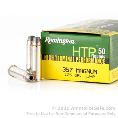 500  Rounds of 125gr SJHP .357 Mag Ammo by Remington