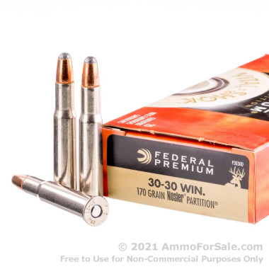 20 Rounds of 170gr Partition 30-30 Win Ammo by Federal