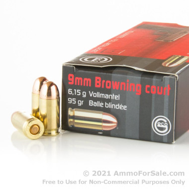1000 Rounds of 95 Grain FMJ .380 ACP Ammo by GECO