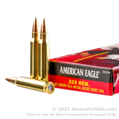 20 Rounds of 62gr FMJBT .223 Ammo by Federal