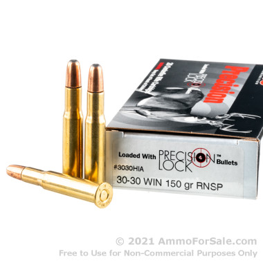200 Rounds of 150gr SPRN 30-30 Win Ammo by PMC