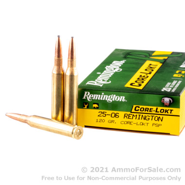 20 Rounds of 120gr PSP 25-06 Remington Ammo by Remington