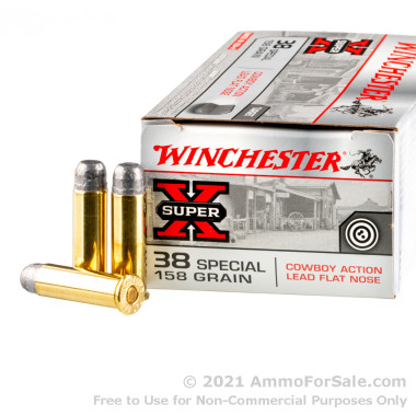 50 Rounds of 158gr LFN .38 Spl Ammo by Winchester Super-X