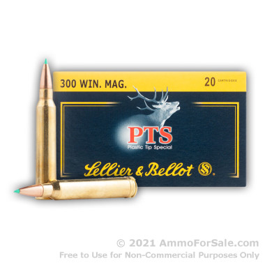20 Rounds of 180gr Polymer Tipped .300 Win Mag Ammo by Sellier & Bellot