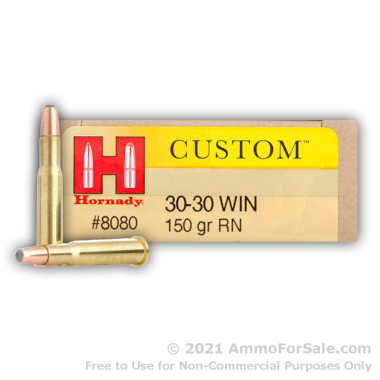 200 Rounds of 150gr RN 30-30 Win Ammo by Hornady