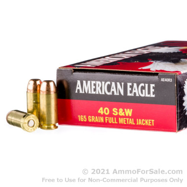 50 Rounds of 165gr FMJ .40 S&W Ammo by Federal