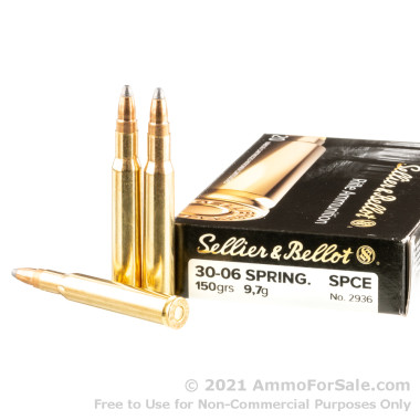 400 Rounds of 150gr SPCE 30-06 Springfield Ammo by Sellier & Bellot