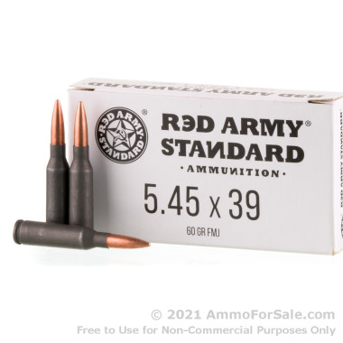 1000 Rounds of 60gr FMJ 5.45x39 Ammo by Red Army Standard