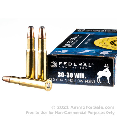 200 Rounds of 125gr JHP 30-30 Win Ammo by Federal