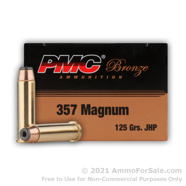 50 Rounds of 125gr JHP .357 Mag Ammo by PMC