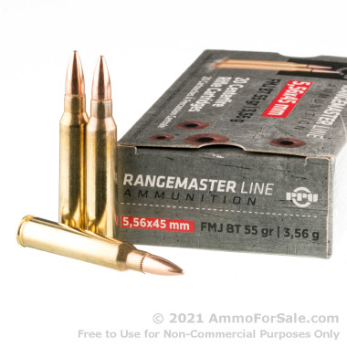 20 Rounds of 55gr FMJBT 5.56x45 Ammo by Prvi Partizan