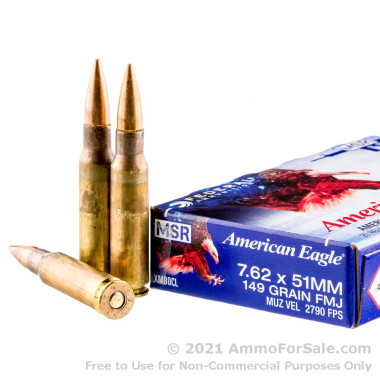 20 Rounds of 149gr FMJ .308 Win Ammo by Federal