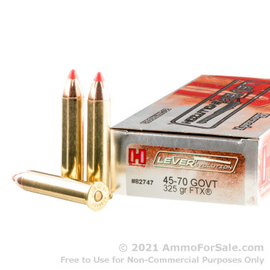 200 Rounds of 325gr FTX 45-70 Government Ammo by Hornady