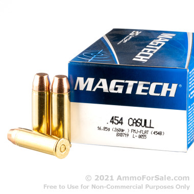 20 Rounds of 260gr FMJ .454 Casull Ammo by Magtech
