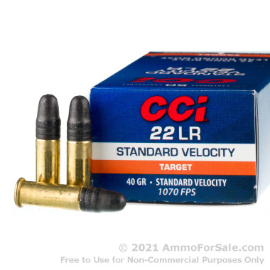 500  Rounds of 40gr LRN .22 LR Ammo by CCI