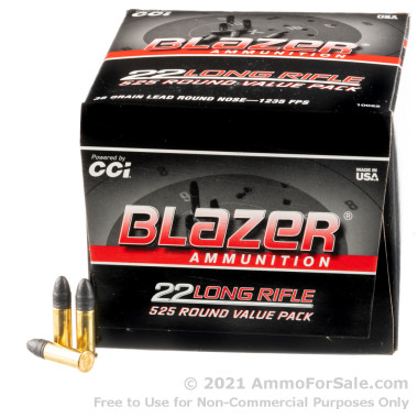 5250 Rounds of 38gr LRN 22 LR Ammo by Blazer