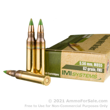 1200 Rounds of 62gr FMJ M855 5.56x45 Ammo by IMI